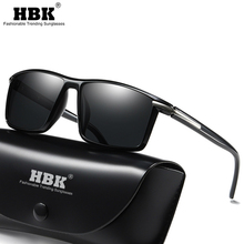 HBK Classic Square HD Polarized Men Sunglasses TR90 Unbreakable Business Style Driving Sun Glasses Male Ultralight Summer Shades