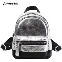Genuine Leather Women Backpacks Fashion School Bags Small Daypacks for Ladies Travel Purse Bag Soft Handle Mochilas Casual Bag