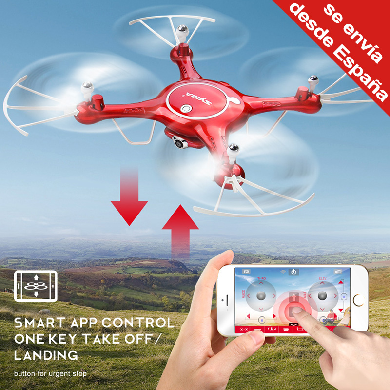 Original Syma X5UW Drone with Camera Quadcopter Wifi FPV Real-time Flight-track RC Helicopter Ship from RU ES CN jjr c jjrc h43wh h43 selfie elfie wifi fpv with hd camera altitude hold headless mode foldable arm rc quadcopter drone h37 mini