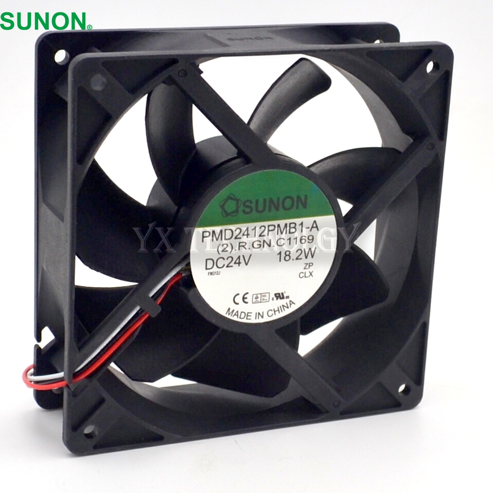 SUNON New and Original PMD2412PMB1-A 12038 24v dual ball bearing fan drive 120*120* 38MM delta 12038 12v cooling fan afb1212ehe afb1212he afb1212hhe afb1212le afb1212she afb1212vhe afb1212me