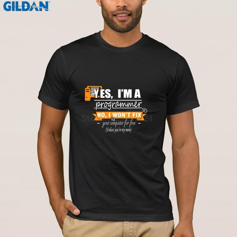 New Java Programmer Computer Men   T     Shirt   Programmer I Won'  t   Fix Your Computer For Free Men's Tshirt Outfit Summer   T  -  Shirt   S-3xl
