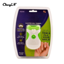 Professional Green Clipper Electric Nail Trimmer Dual-use Nail Clipper Nail Cutter File Manicure Pedicure Set Wholesale P00