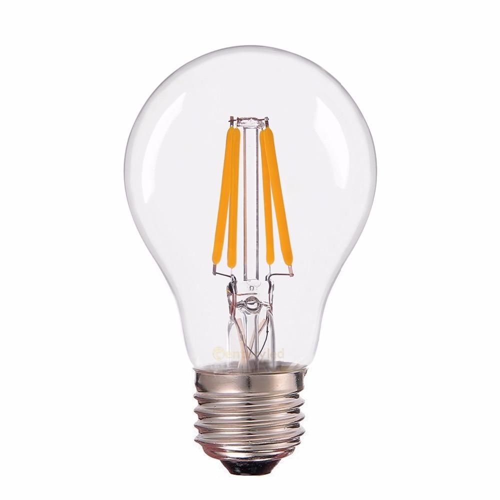 E26 E27 LED Filament Light Bulb Lamps 110V 220V 4W Retro Candle Lamp Lighting Edison A60  Warm white led bulb lamps e27 e26 e39 e40 5730smd