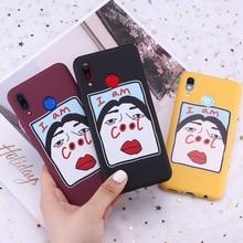 For Samsung S8 S9 S10 S10e Plus Note 8 9 10 A7 A8 I AM COOL Girl Memes Candy Silicone Phone Case Cover Capa Fundas Coque