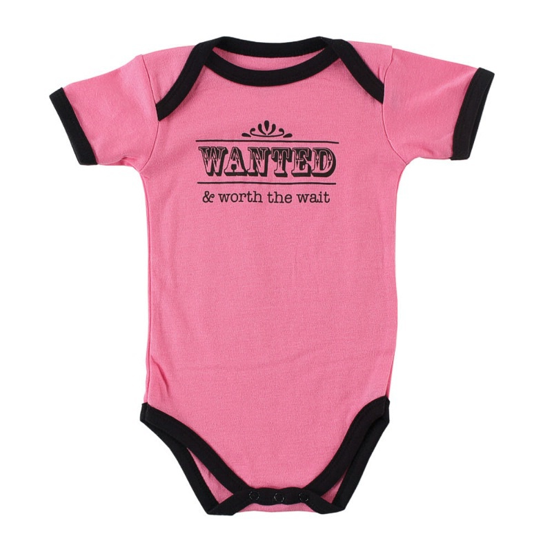 Baby Girl Romper Sayings Wanted And Worth The Wait Romper Baby
