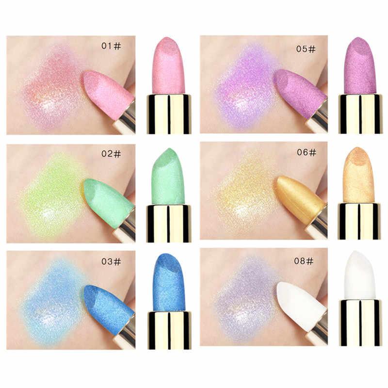 שפתון יהלומי גליטר שפתון פנינת שפתון לחות שפתון עמיד למים לאורך זמן טבעי קרם לחות איפור maquiagem