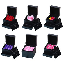 16pcs Romantic Artificial Rose Soap Flowers Set Gift Box for Wedding Party Favor Creative Birthday Gifts Valentine's Day Present
