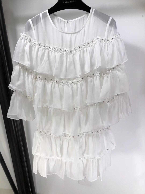 Kadın Giyim'ten Elbiseler'de 2019 Yeni Ipek Elmas Çiviler Uzun Kollu Yuvarlak Yaka Süper Lüks Elbiseler Kadınlar için Ücretsiz Kargo'da  Grup 3