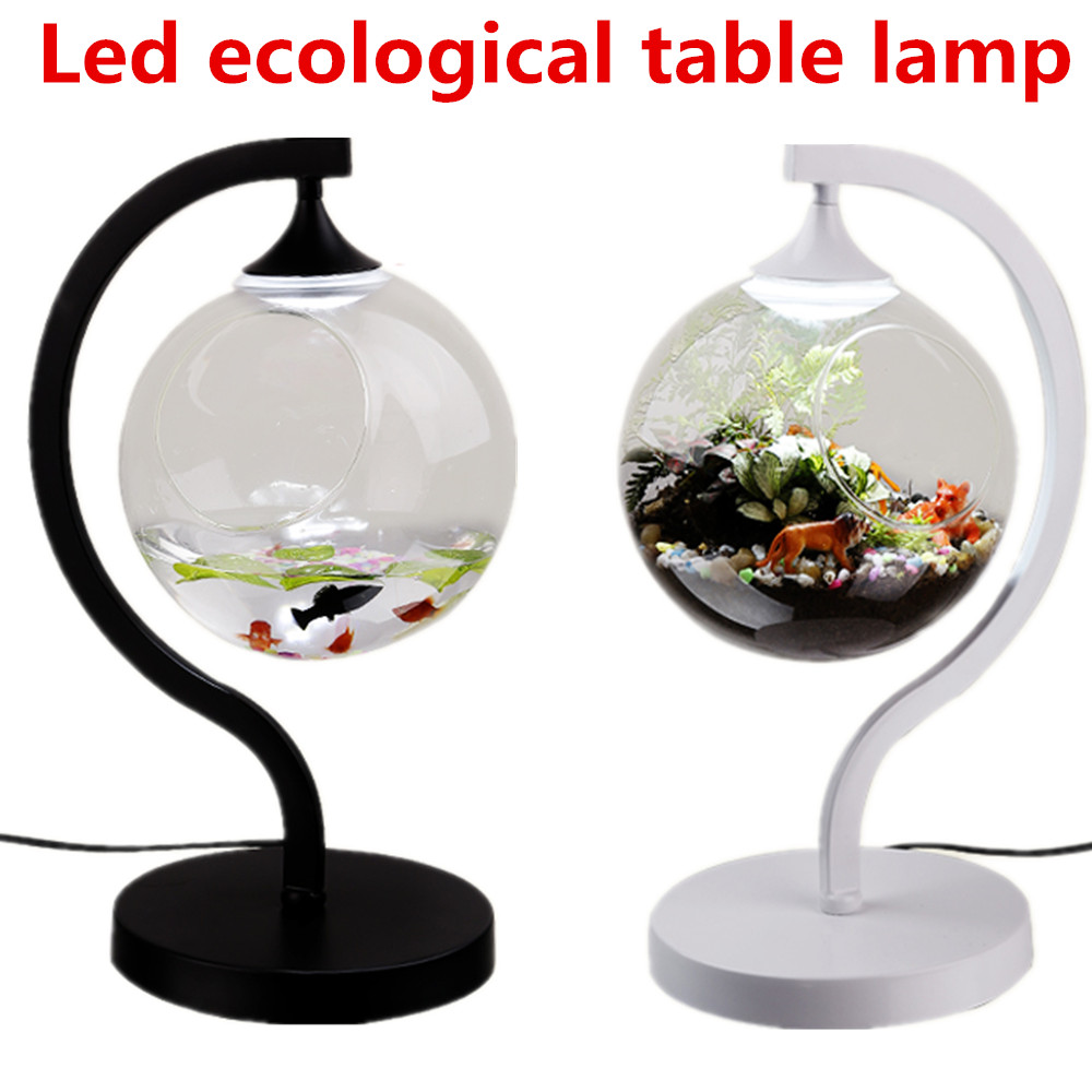 Original micro-landscape ecological eye lamp 6W 5730 12leds 3 kinds of light conversion mode bedroom bedside lamp купить