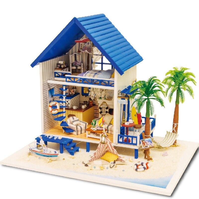 Bebek evi mobilya miniatura diy doll evleri minyatür dollhouse ahşap el yapımı çocuklar yetişkinler için oyuncaklar doğum günü hediye A029