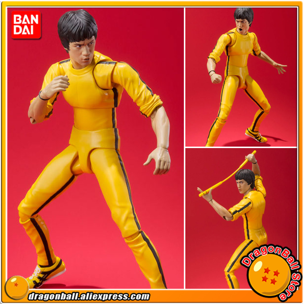 Brand New Bruce Lee Yellow Track Suit Action Figure Bandai S.H.Figuarts Model