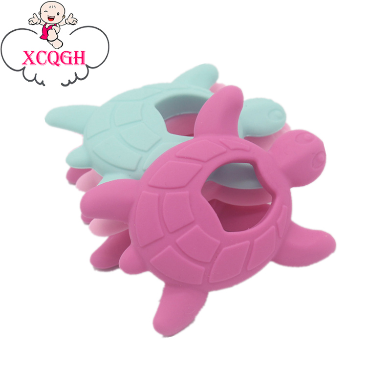 XCQGH BPA Free Cute Turtle Silicone Teether Pendant Nursing DIY Baby Teething Shower Pacifier Toy носки низкие toy machine turtle ankle page 1
