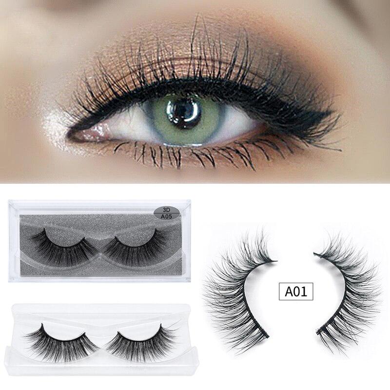 6b73c288c40 1 Pairs 3D Mink Eyelashes Natural False Eyelashes Handmade Extension  Supplies Eye Lashes Lash Mink 3D Lashes For Makeup beauty