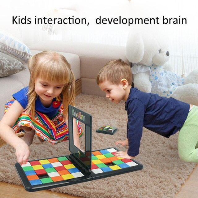 3D Enigma Corrida Cubo Jogo de Tabuleiro Fidget Cubo Mágico Brinquedos Educativos Crianças bloco mágico jogo toy Para Kid Aniversário Da Família presente
