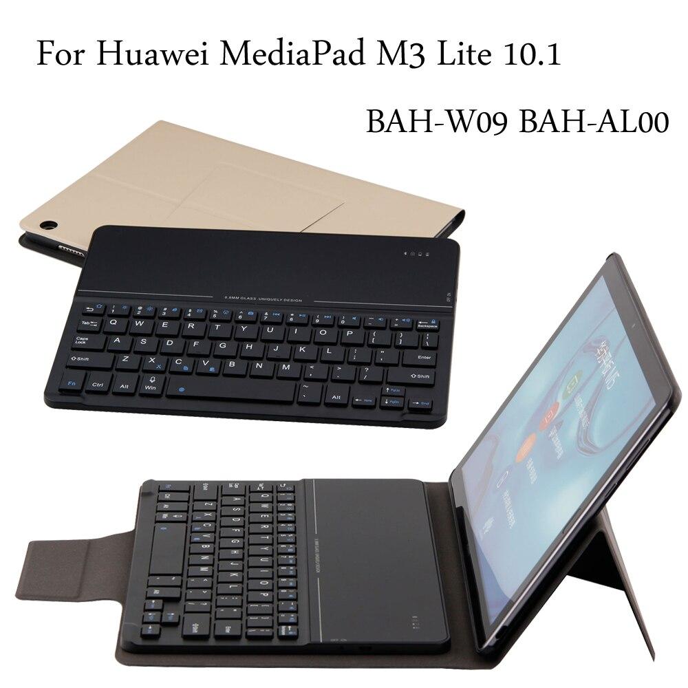 Nouveau étui pour clavier bluetooth Ultra mince sans fil pour Huawei MediaPad M3 Lite 10 BAH-W09 BAH-AL00 tablette 10.1 pouces + cadeau