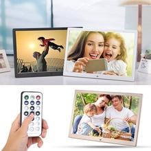 VODOOL 15.4 Inch Metal Digital Photo Frame HD LCD Screen 1280X800 Electronic Album Picture Music Video Player Calendar Clock