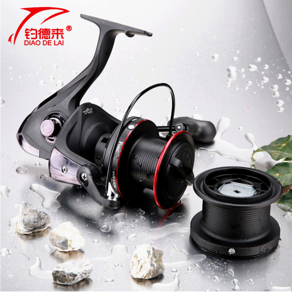 KCN10000 Distant Fishing Wheel 13+1 BB Gapless Gear Ratio 4.1:1 sea fishing reel Long Shot Reel Fishing Tackle+Spare Spool our distant cousins
