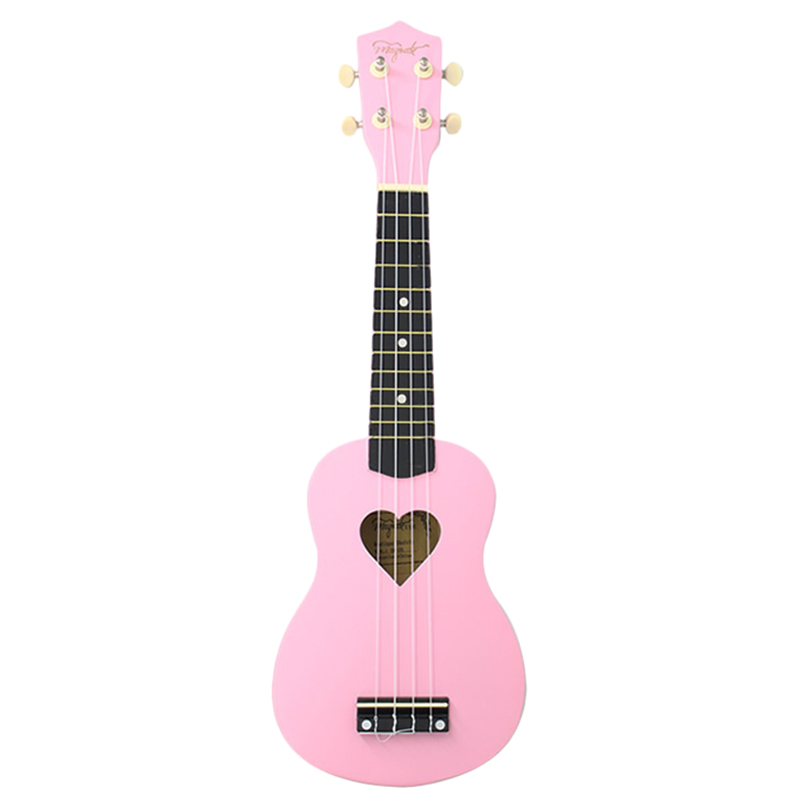 Mcool Concert Ukulele 23 Inch Pink Ukelele 4 Strings Hawaii Mini Guitar Heart-Shaped Tone Hole Basswood Wood UkeMcool Concert Ukulele 23 Inch Pink Ukelele 4 Strings Hawaii Mini Guitar Heart-Shaped Tone Hole Basswood Wood Uke