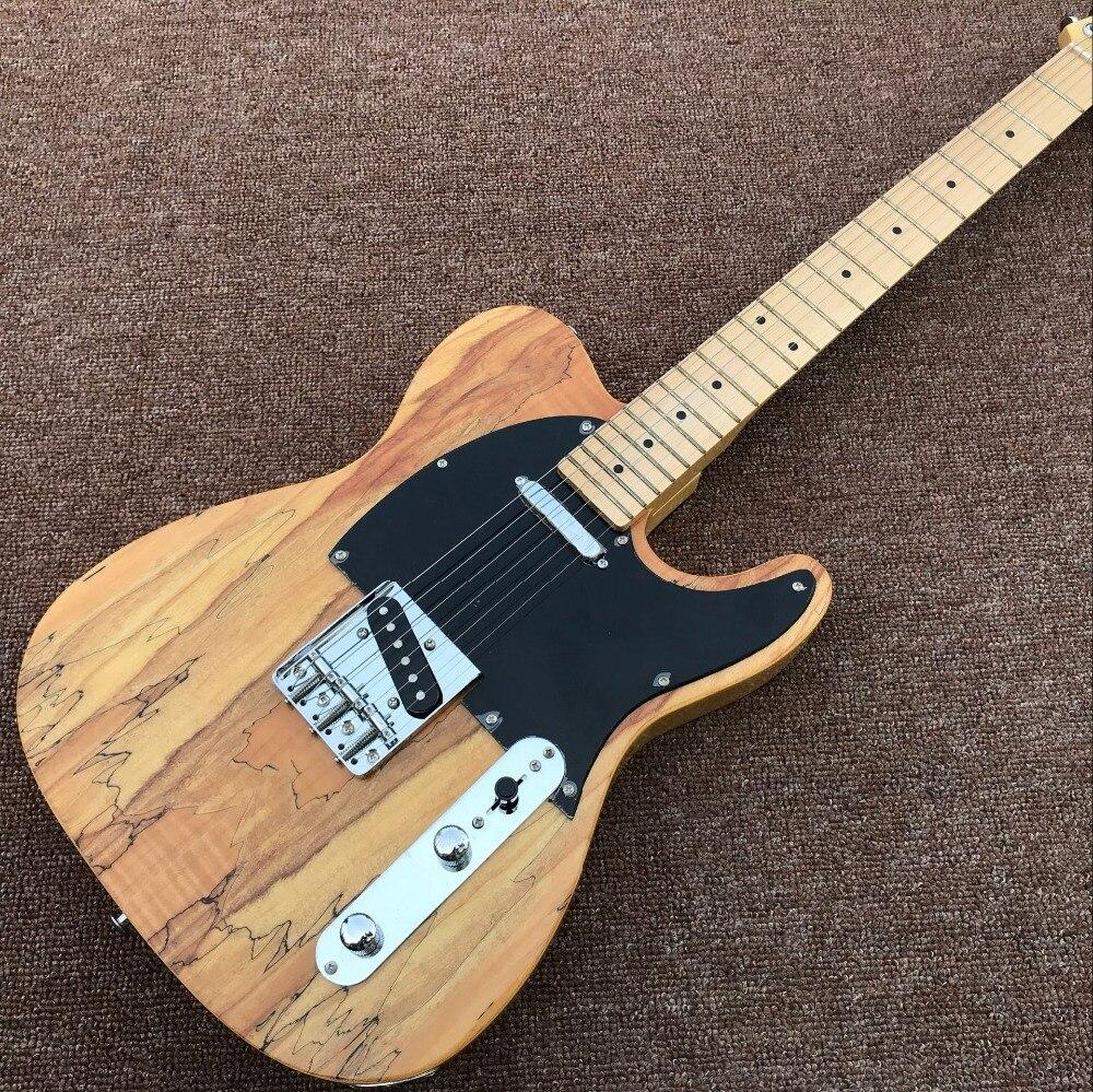 Nouveau style, guitare électrique classique à 6 cordes en érable de palissandre, micros gitaar de haute qualité. Couleur bois naturel guitarra