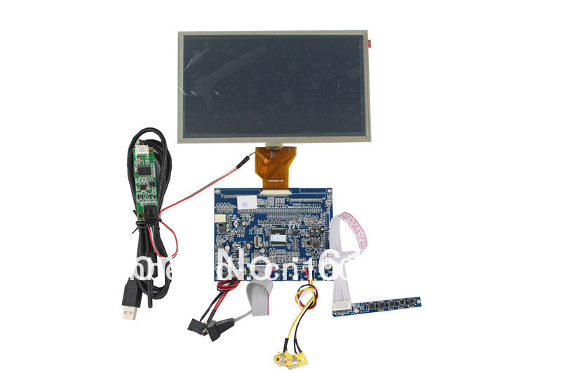 VGA +AV  LCD controller board  + Touch panel with control card +Power cable+VGA cable+AV cable +OSD keypad+AT080TN64 видеорегистратор artway av 711 av 711