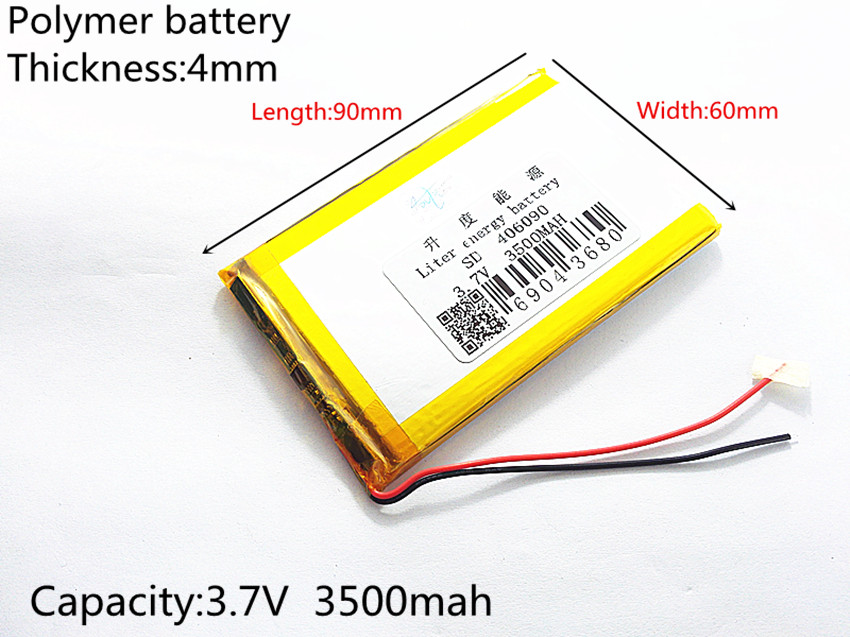 3.7V,3500mAH (polymer lithium ion battery) Li-ion battery for tablet pc 7 inch 8 inch 9inch <font><b>406090</b></font> Free Shipping image