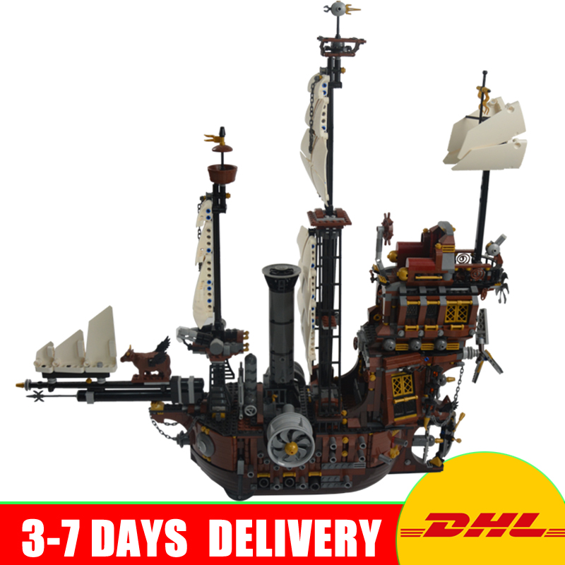 LEPIN 16002 Modular MetalBeard's Sea Cow Building Block Set Bricks Kits Set Toys Compatible 70810 lepin 22001 imperial warships 16002 metal beard s sea cow model building kits blocks bricks toys gift clone 70810 10210