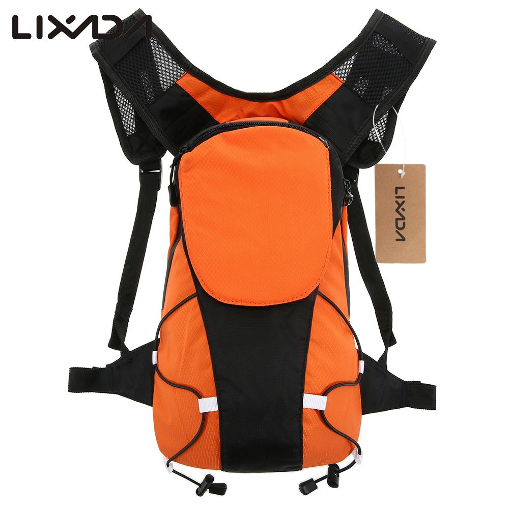 Lixada 5L Lightweight Bicycle Bag USB Reflective Backpack with LED Signal Light Outdoor Sport Bag Gear