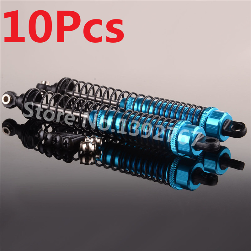 10Pcs RC Car Aluminum Front Shock Absorber 1/10 Scale Models Remote Control Cars R/C AXI ...