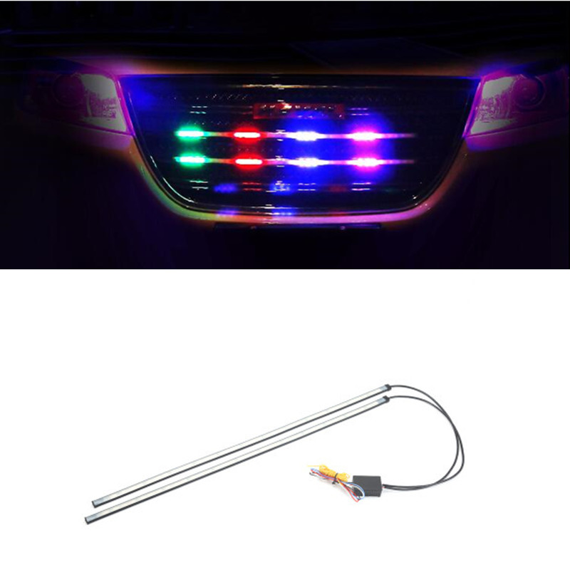 Car Net lights RGB 5050 SMD 36 LED Auto Flashing Dynamic Streamer Turn Signal Warning Grill lights Day light Waterproof 12V Led
