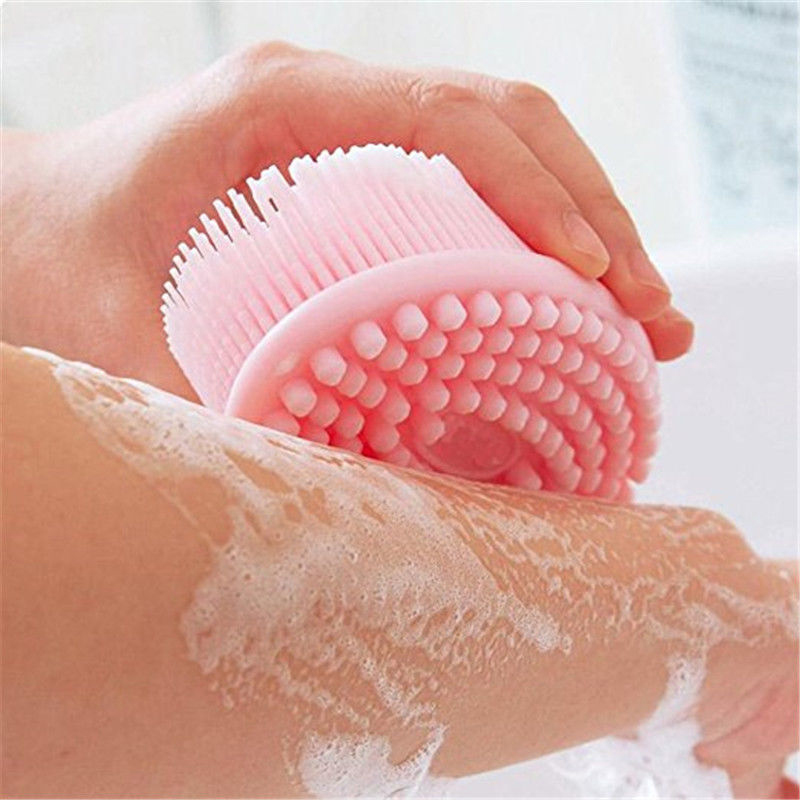 Silicone Ultra Soft Gel Baby Bath And Shower Massage Brush Head Massage Shampoo Brushes Gentle Touch Cleaning Tools