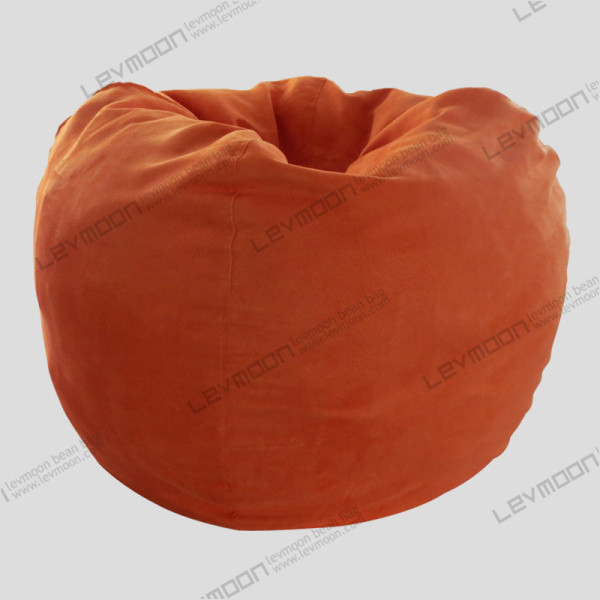 Free Shipping Bean Bags Chairs No Filling Drop Orange Suede Indoor Bag Couch