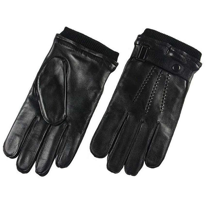 Direct Selling Wrist Men Gloves Thermal Winter Driving Glove Fashion Black Genuine Leather Top Quality Goatskin Rushed M016WZ in Men 39 s Gloves from Apparel Accessories