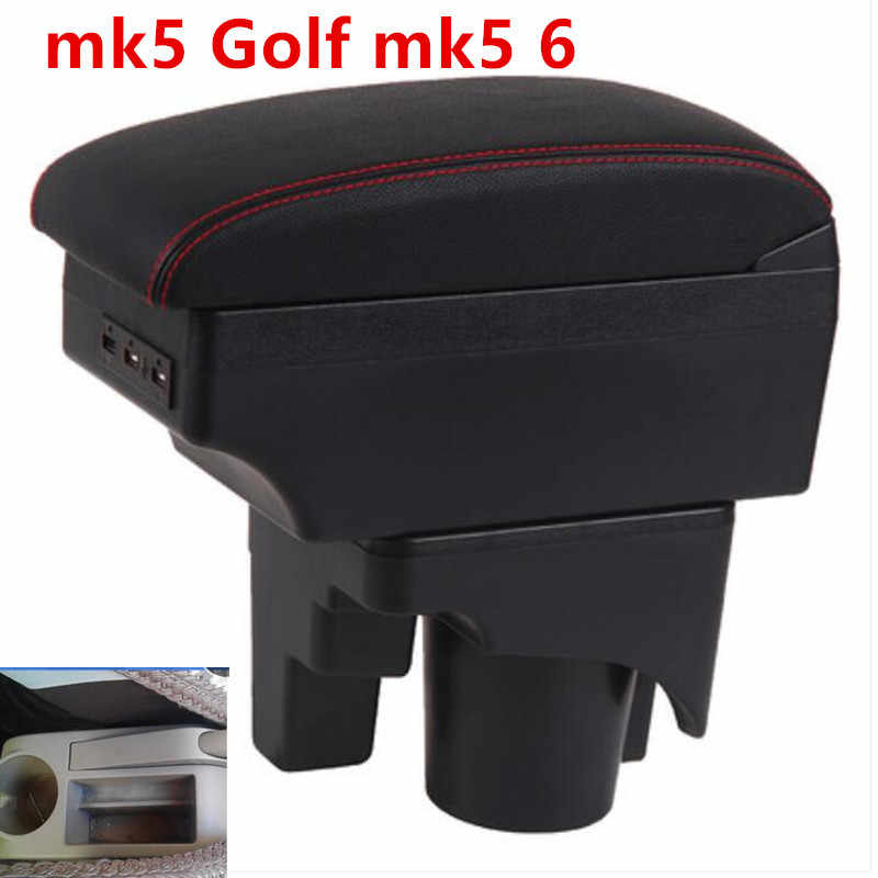 For mk5 Golf mk5 6 armrest box central Store content box cup holder interior car-styling products accessory 2005-11