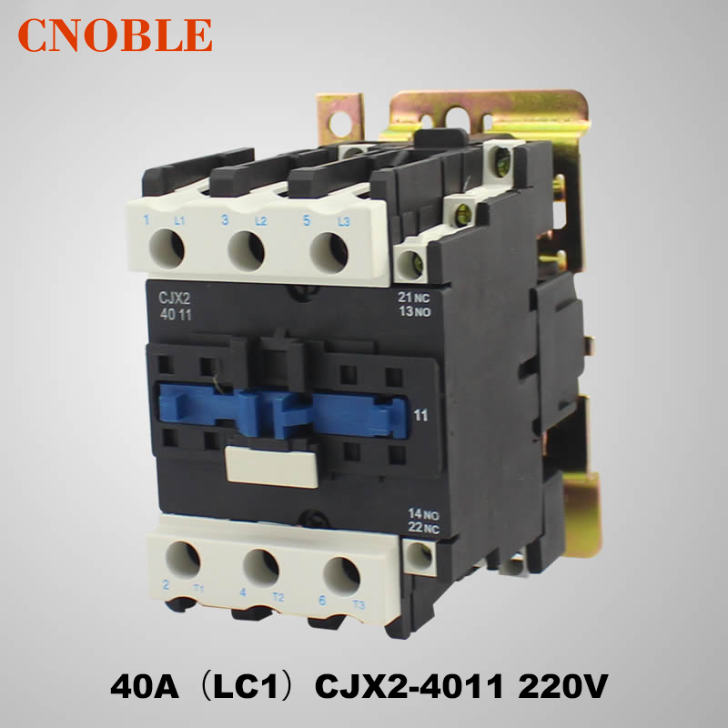 AC contactor 40A (LC1) CJX2-4011 220V coil voltage silver contact contactor cjx2 6511 40a switches lc1 ac contactor voltage 380v 220v 110v use with float switch
