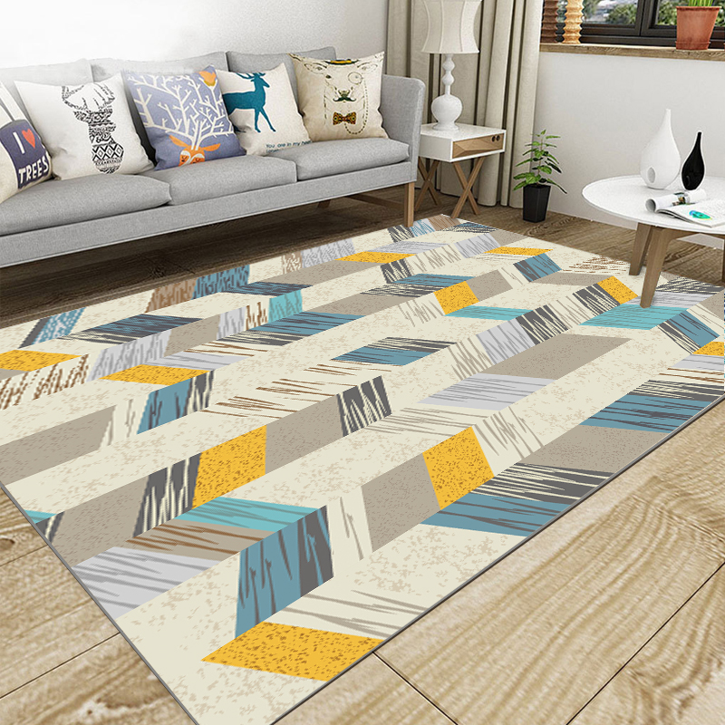 Nordic Geometric Parlor Area Rugs Soft Flannel Home Textile  Living Room Carpet Bedroom Rugs Rectangle Large Anti-slip CarpetsNordic Geometric Parlor Area Rugs Soft Flannel Home Textile  Living Room Carpet Bedroom Rugs Rectangle Large Anti-slip Carpets