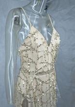 Two Slit Sequin Long Maxi Dresses