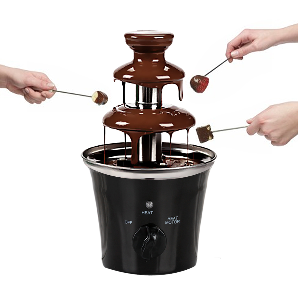 GZZT New Arrival 3 Layers Chocolate Fountain Machine Chocolate Melting Cooker Stainless Steel Chocolate Kitchen Tools GZZT New Arrival 3 Layers Chocolate Fountain Machine Chocolate Melting Cooker Stainless Steel Chocolate Kitchen Tools