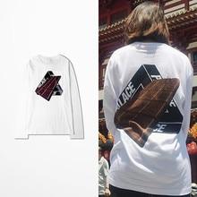 New Palace Long Sleeve T Shirt Harajuku Ulzzang Men Korean Fashion Skateboard West Coast Men's T Shirts Hip Hop Novelty T Shirt