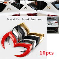 Auto Emblem 10pcs Universal Car Styling 3D Sticker Logo Bat Batman For Any Car for mazda 3 6 CX 5 CX 6 Axela Atenza Accessories