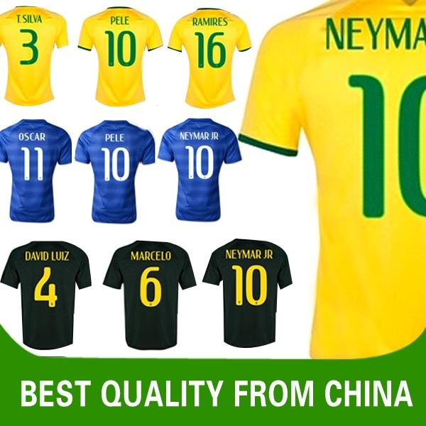 XXL XXXL 4XL Brazil Jersey Top Thailand Quality The Green and Yellow NEYMAR  JR OSCAR Brasil Jersey Player Version In Stock 63c243cd0