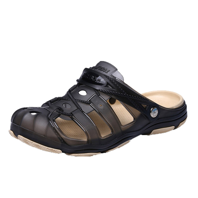 SIKETU 2019 Summer Shoes Men Beach Sandals Hollow Slippers Men Shoes Mesh Lighted Casual Shoes Outdoor Fashion Men Flats A30