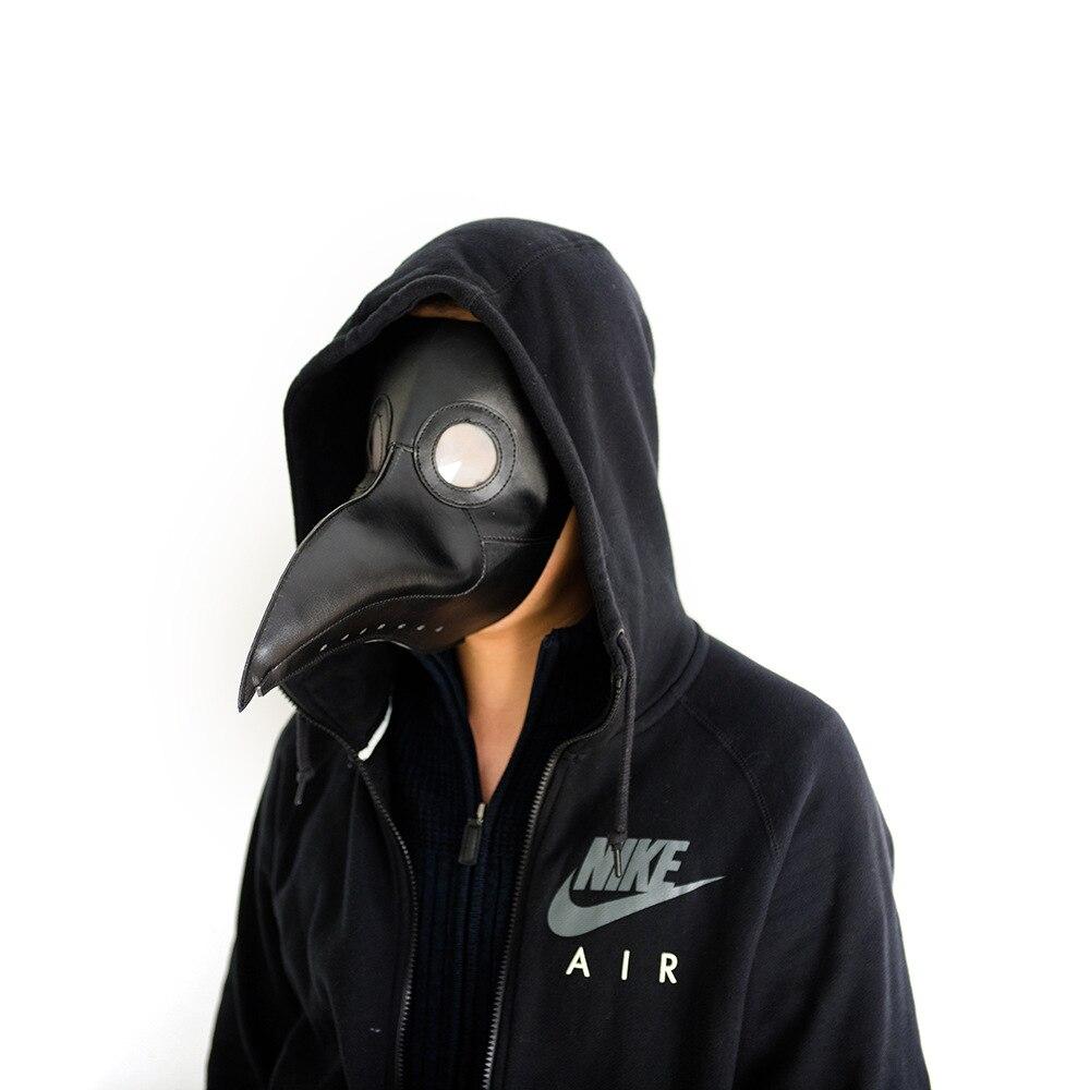 37 Wholesale Batch Of 5 Black Brown Leather Steam Punk  Plague Doctor Bird Beak Halloween Gothic Cosplay Breath Crow Mask