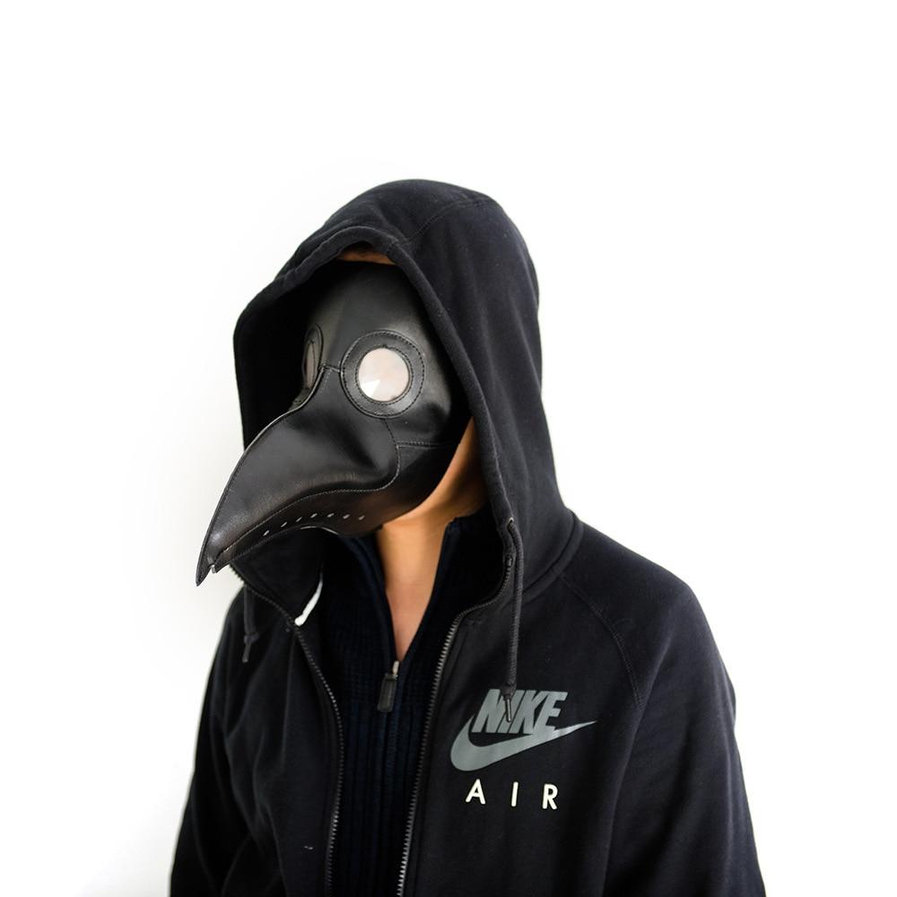 Wholesale Batch Of 5 Black Brown Leather Steam Punk  Plague Doctor Bird Beak Halloween Gothic Cosplay Breath Crow Mask