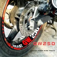 Conjunto Engraçado Adesivos de Carro Styling Roda Aro Interno 1 GSX/DL/GW 250 Decalques Reffiting a Fita do Aro Moto estilo Do Carro motocicleta para Honda