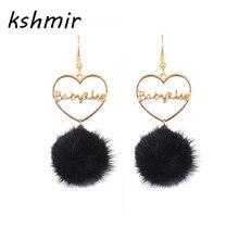 Han edition exquisite fashion jewelry earrings earrings sable hair bulb tassel women earrings wholesale цена