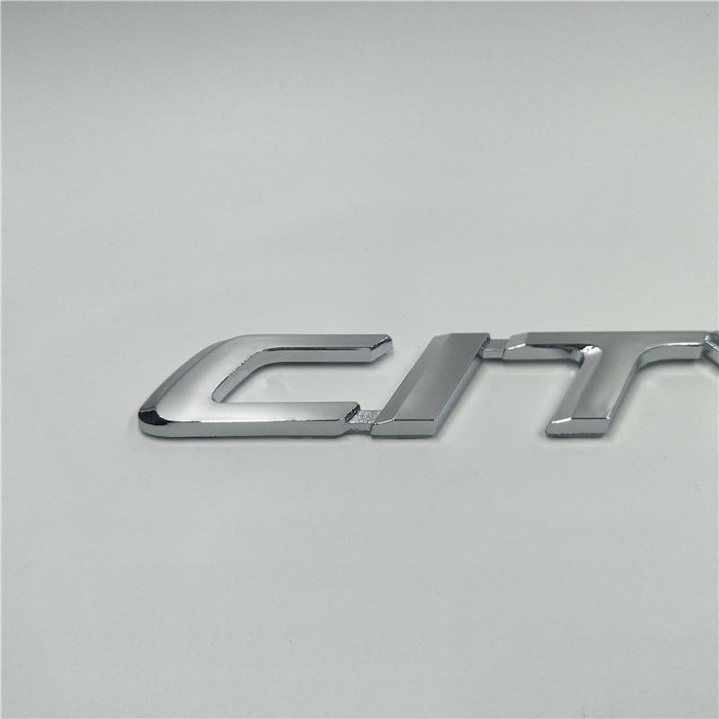 For Honda City Chrome Silver Emblem Logo Decal Tail Rear Trunk Stickers emblem
