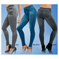2016 Leggings Jeans for Women Denim Pants with Pocket Slim Jeggings Fitness Plus Size Leggings S-XXL Black/Gray/Blue