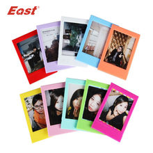 East 10 pcs/lot Mini Colorful Photo Frame For FujiFilm Instax Mini 3 Inch Film home decor(China)