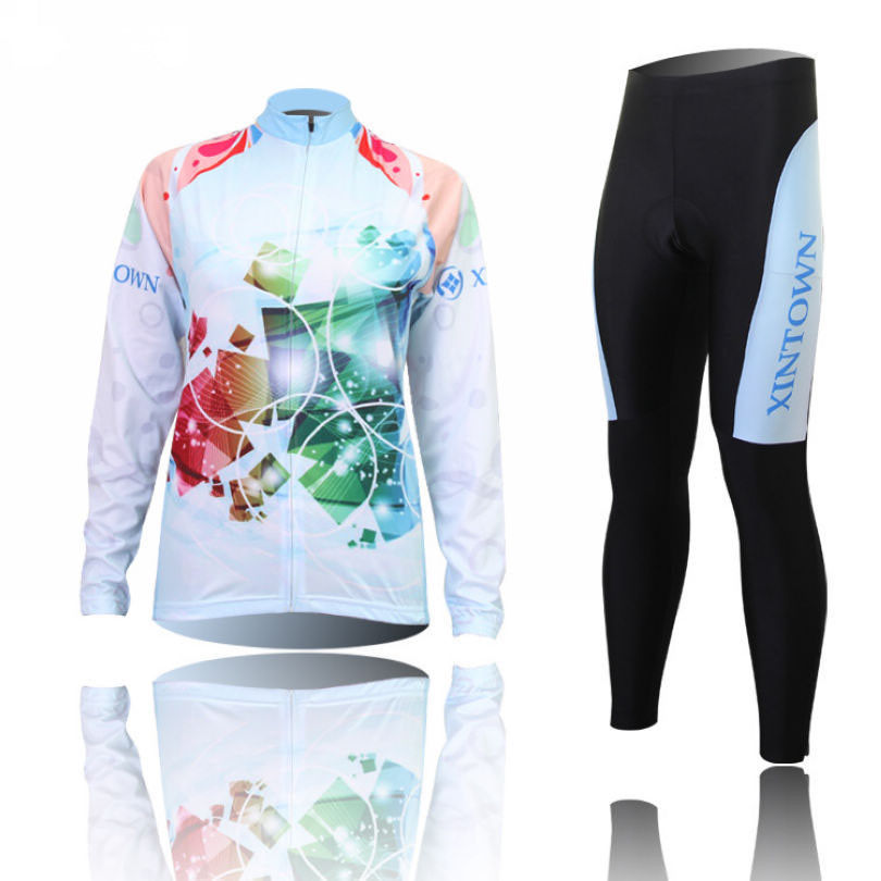 Xintown 2016 Women's Cycling Clothing Sport Racing Bike Wear Long Sleeve Cycling Jersey Ropa Ciclismo Quick Dry Bicycle Clothing x tiger 2017 cycling jersey sets long sleeve mountain bike clothes wear maillot ropa ciclismo quick dry racing bicycle clothing