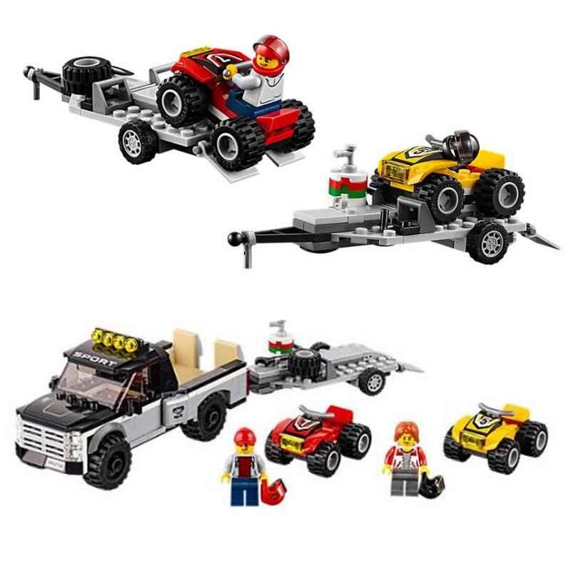 Bela 10649 City Series ATV Race Team 60148 Trailer Hitch Detachable Trailer Building Block Bricks Toys Compatible With Legoings
